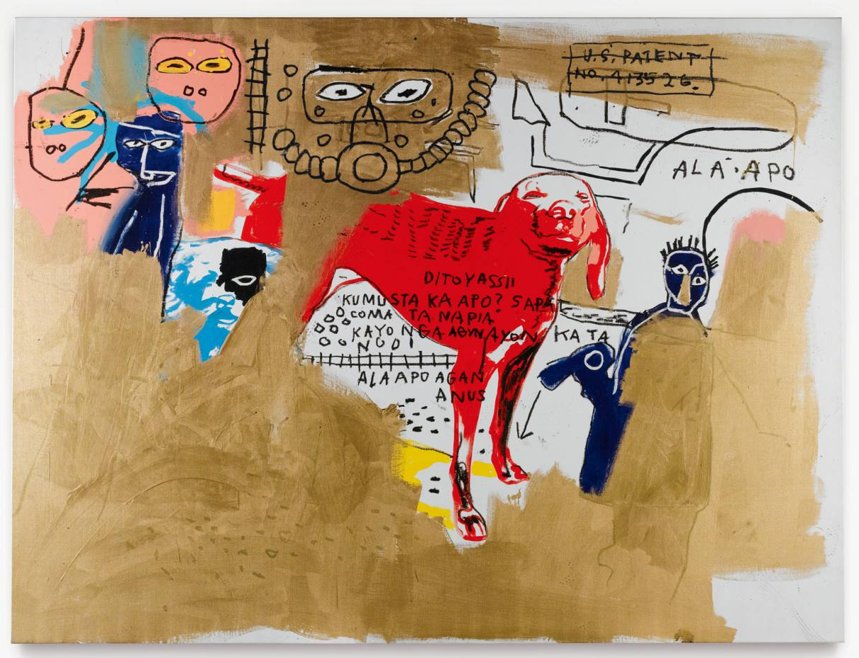 Andy Warhol and Jean-Michel Basquiat's Untitled (Two Dogs), 1984