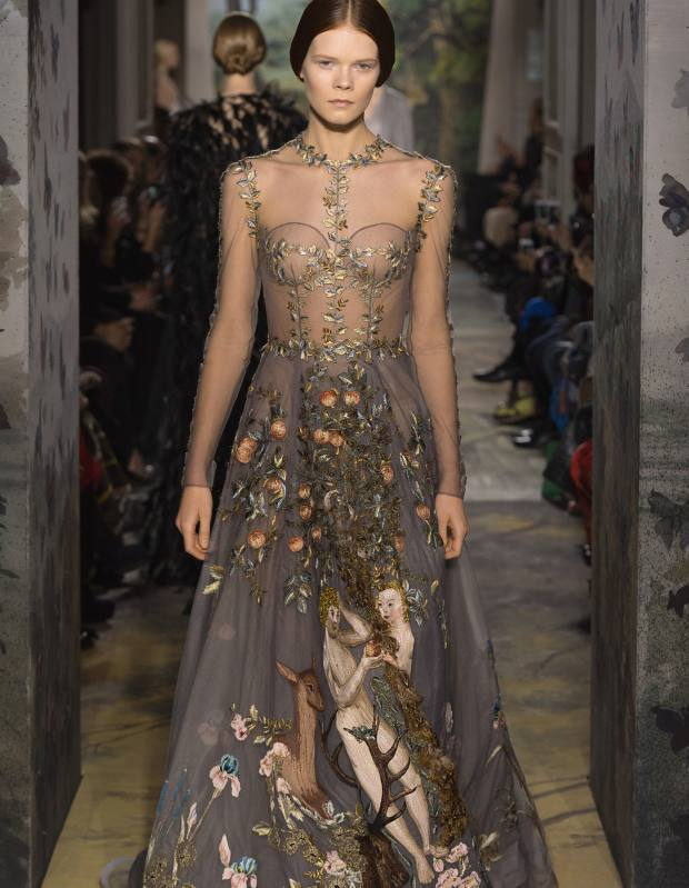 Valentino Haute Couture embroidered-silk tulle dress, price on request