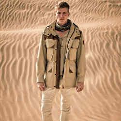 Belstaff cotton and suede motorbike jacket, £1,250