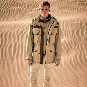 Belstaff cotton and suede motorbike jacket, £1,250