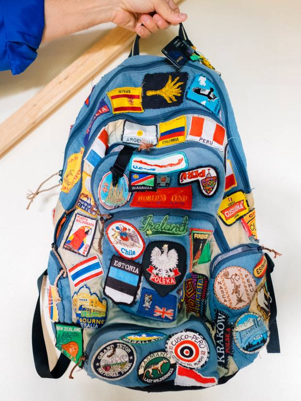 Bensley's embroidered-patch backpack