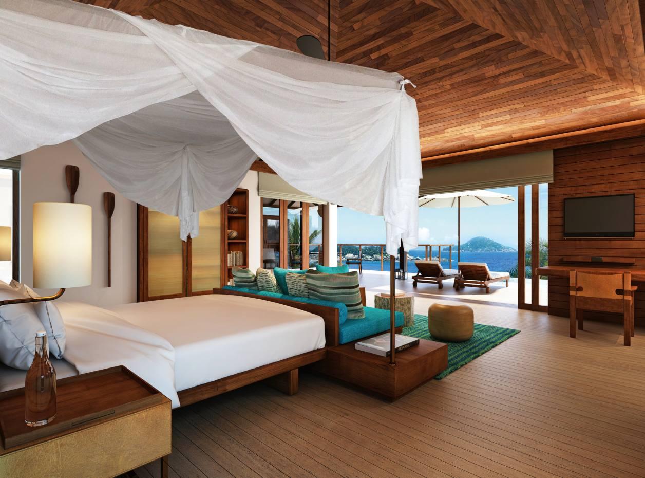 A one-bedroom pool villa at Six Senses Zil Pasyon on Felicité Island, the Seychelles
