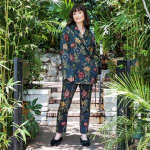 Rosetta Getty in the grounds of the Chateau Marmont