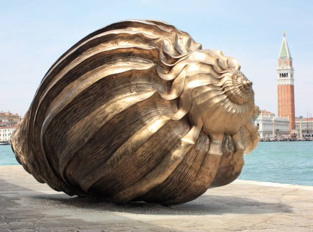 Spiral of the Galaxy sculpture by Marc Quinn, on display at the 2013 Venice Biennale