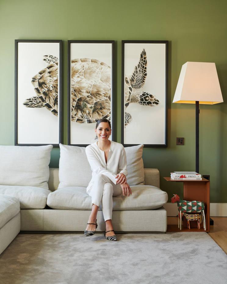 Jennifer Chamandi at home inLondon