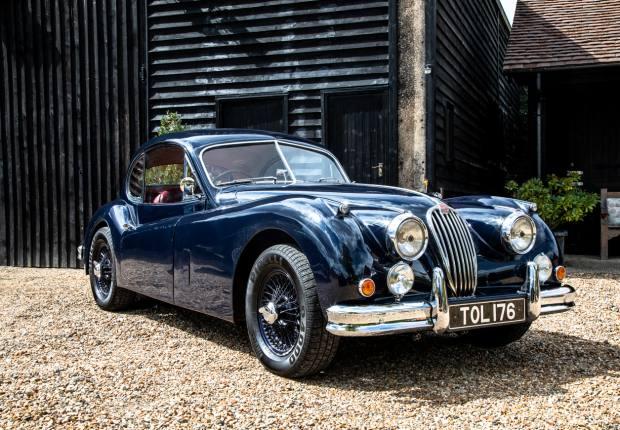 Sweetenham's 1956 Jaguar XK140 Hotrod coupé, which has a current value of £60,000 to £65,000