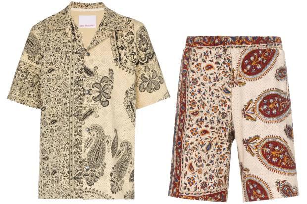 Paria Farzaneh cotton shirt, £305, and cotton shorts, £250