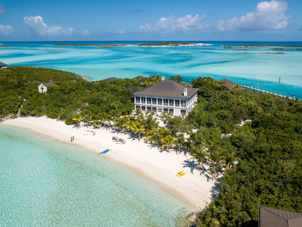 One of the five elegantly furnished homes on Little Pipe Cay in the Bahamas, $85m