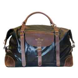 Gandys canvas and leather weekend bag, £185. for Gandys' Orphans for Orphans initiative