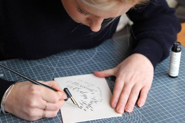 The art of calligraphy will be studied at the Write Like a Royal masterclass