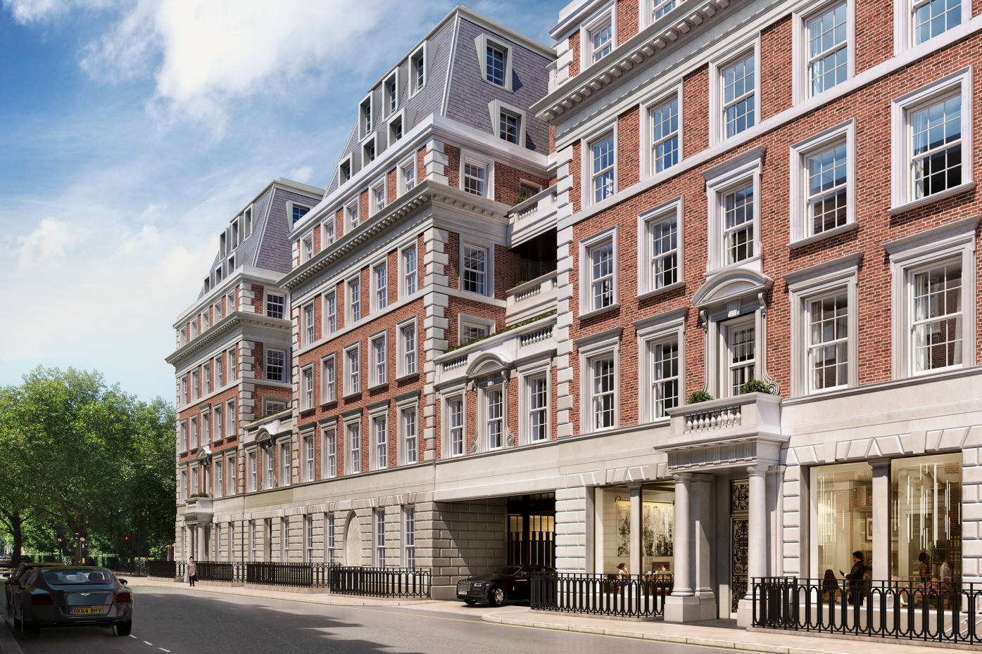 Undisturbed views of the Eero Saarinen-designed USEmbassy are enjoyed by residences at No1 Grosvenor Square, from £8m