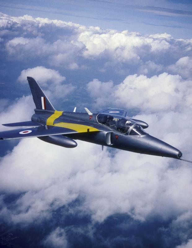 An ex-RAF Folland Gnat jet trainer aircraft