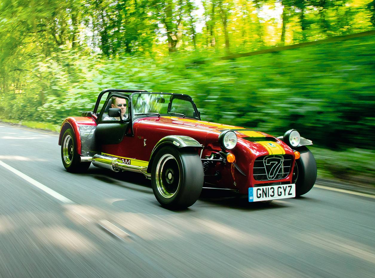 The supercharged Caterham Seven 620R, from £49,995