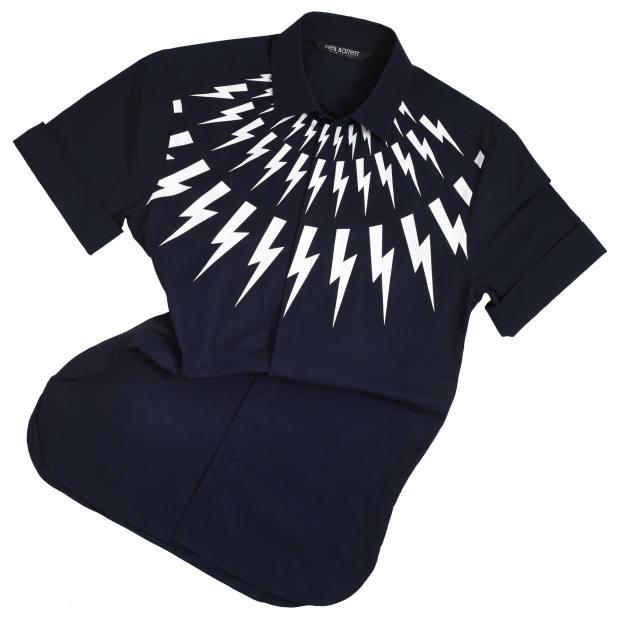 Neil Barrett cotton-mix shirt, £320