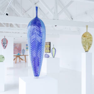 Glass artist Dante Marioni's solo exhibition showcases signature pieces and new work priced from £12,000 to £18,000