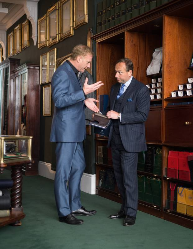 Looking through swatches with managing director Simon Cundey