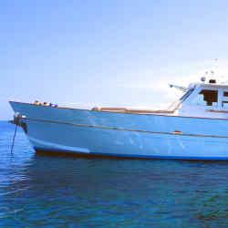 The 15m wooden craft Barca Jost