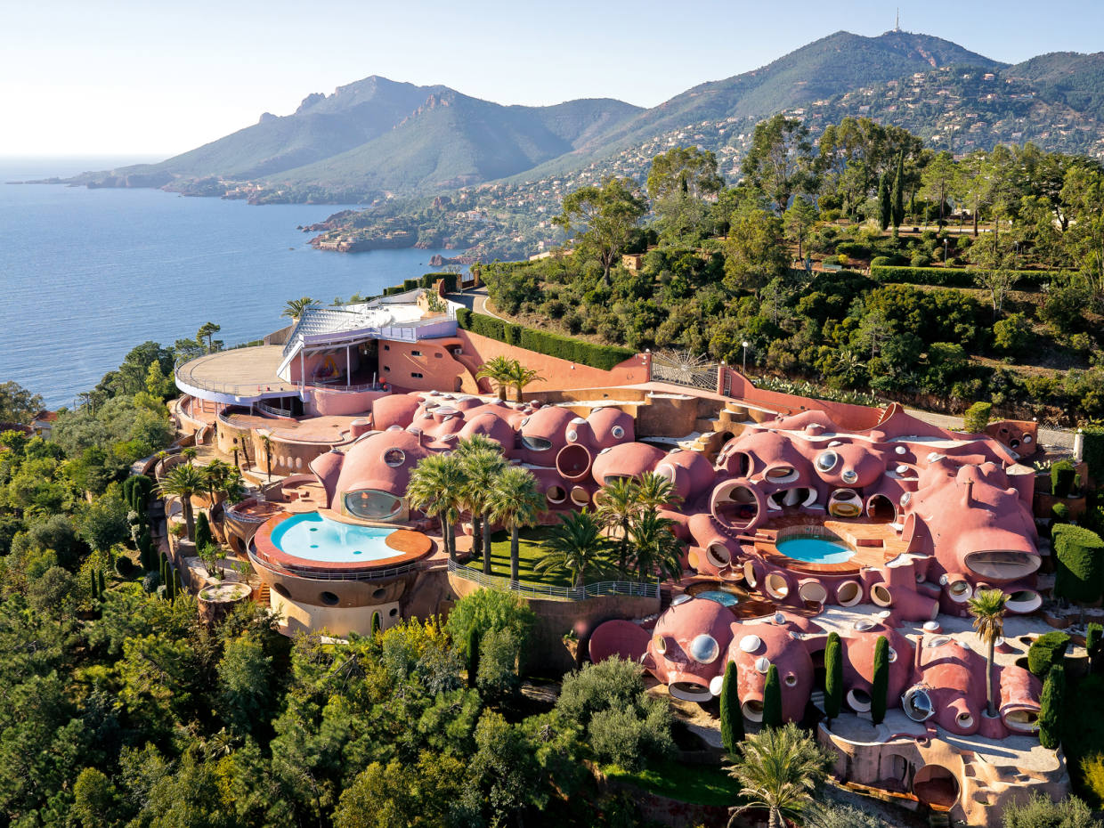 The 1,200sq m Palais Bulles on the Côte d'Azur has 10 bedrooms and a 500-seat open-air amphitheatre overlooking the Mediterranean, €350m through Christie's International Real Estate