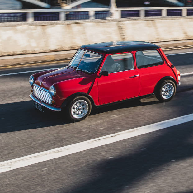 The Swind E Classic Mini with a cutting-edge electric powertrain – 100 examples are due to be produced, starting from £79,000