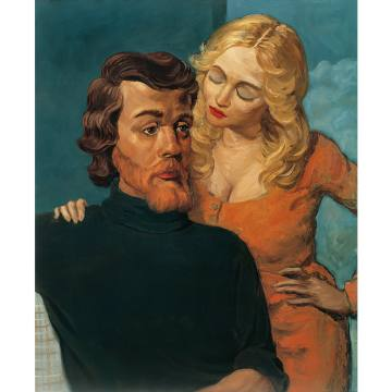 Lovers, 1993, by John Currin (oil on canvas, 86.4cm x 71.1cm)