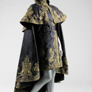 Alexander McQueen 2010 silk-damask cape dress, sold by Kerry Taylor Auctions for £14,000