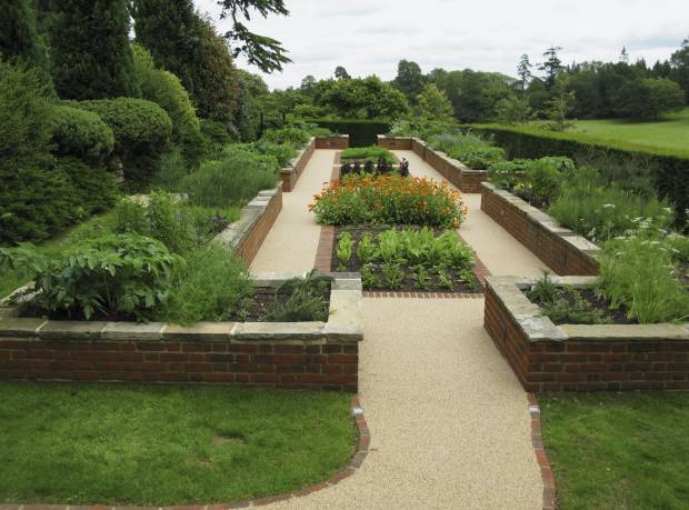 A garden designed by Jekka McVicar for clients in Kent