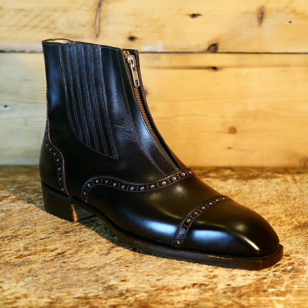 Calfskin front-zip boot made for an American racehorse owner, £3,750