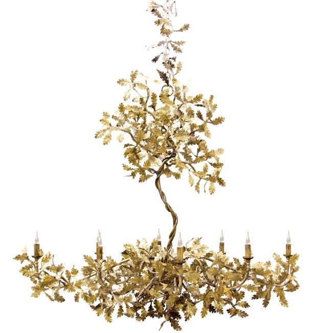 Cox London brass Golden Oak chandelier, £18,792