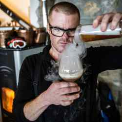 Heston Blumenthal is offering guests a different slant on wine tasting and perception