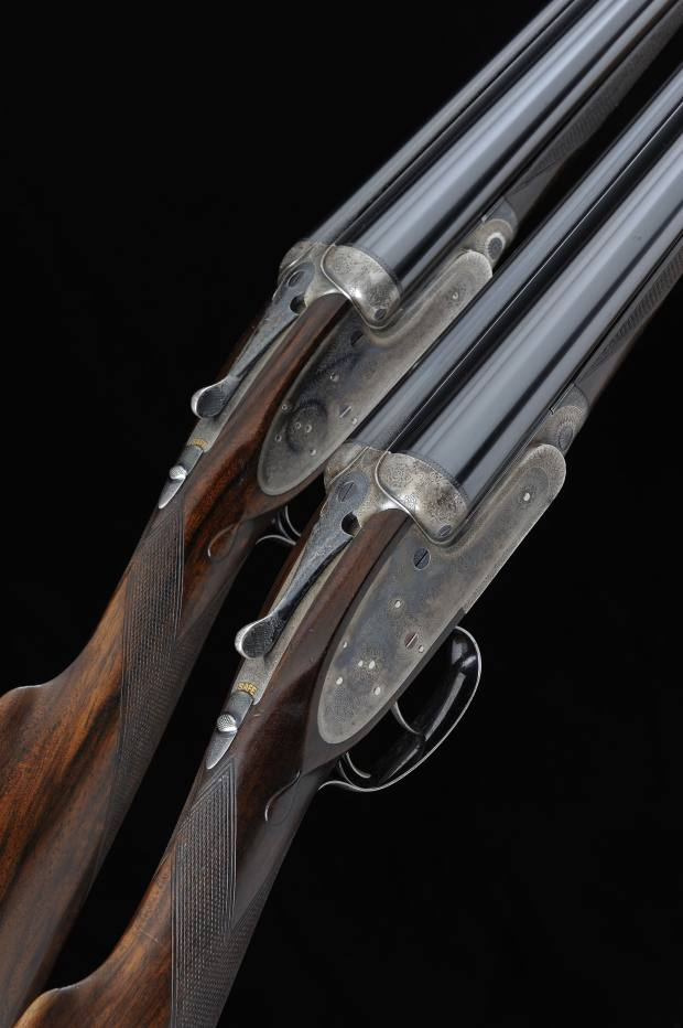 12-bore self-opening sidelock ejector shotguns by James Purdey & Sons, estimated at £35,000
