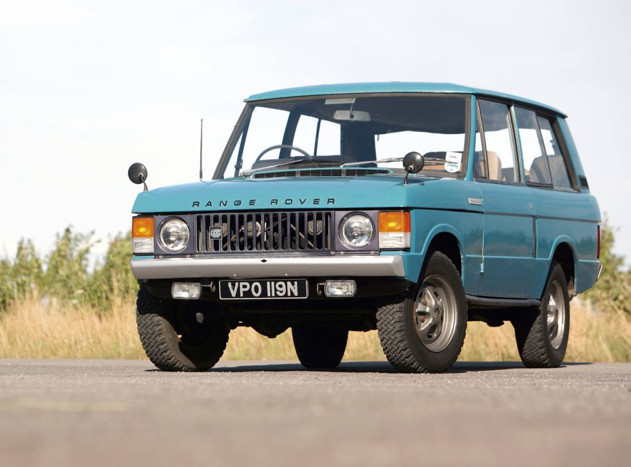 A first-generation 1972 Range Rover.
