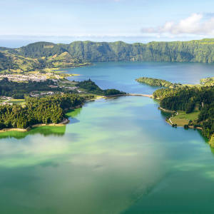 Lagoa das Sete Cidades, a volcanic lake on the island of São Miguel