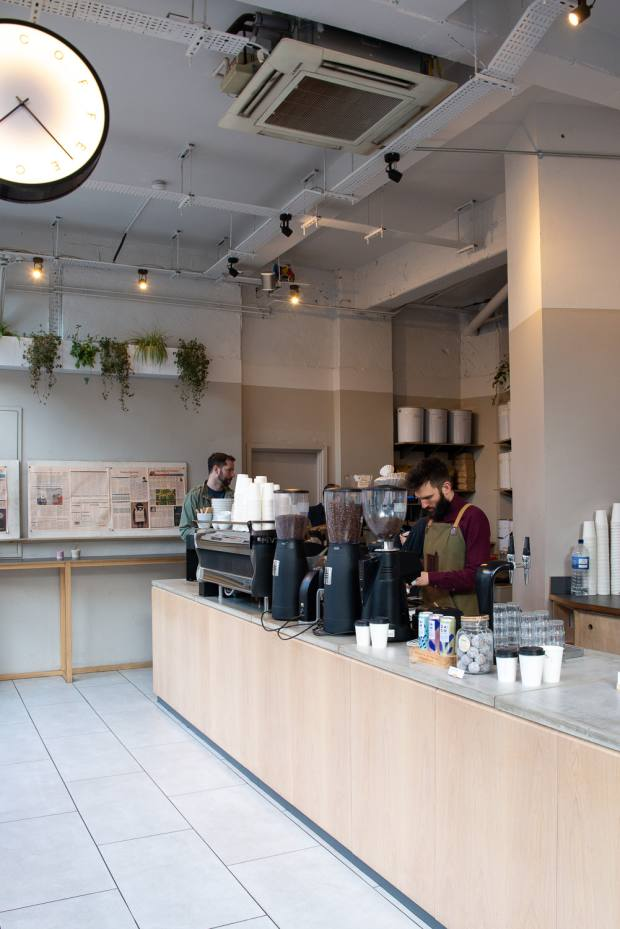 Rosslyn Coffee co-founder Mat Russell can often be found behind the bar
