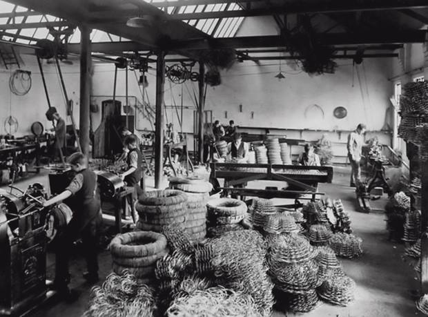 One of the workshops at Wade Upholstery, Nottingham, in the 1930s, now shared with Parker & Farr