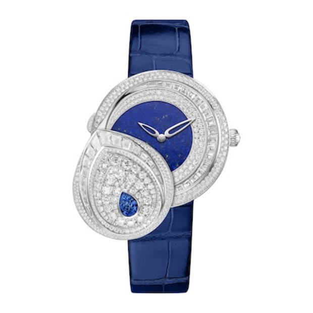 Chaumet white-gold, diamond and sapphire Joséphine Rondes de Nuit secret watch, POA