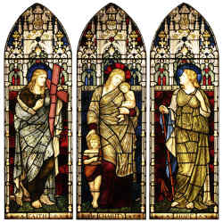 Faith, Charity and Hope by Henry Holiday, 1839-1927, £75,000, from Tomkinson Stained Glass