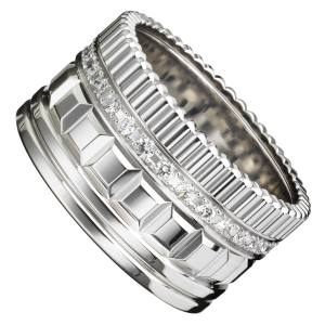 Boucheron Quatre Radiant Edition ring in white gold with diamonds, £8,800. Also in yellow gold with diamonds