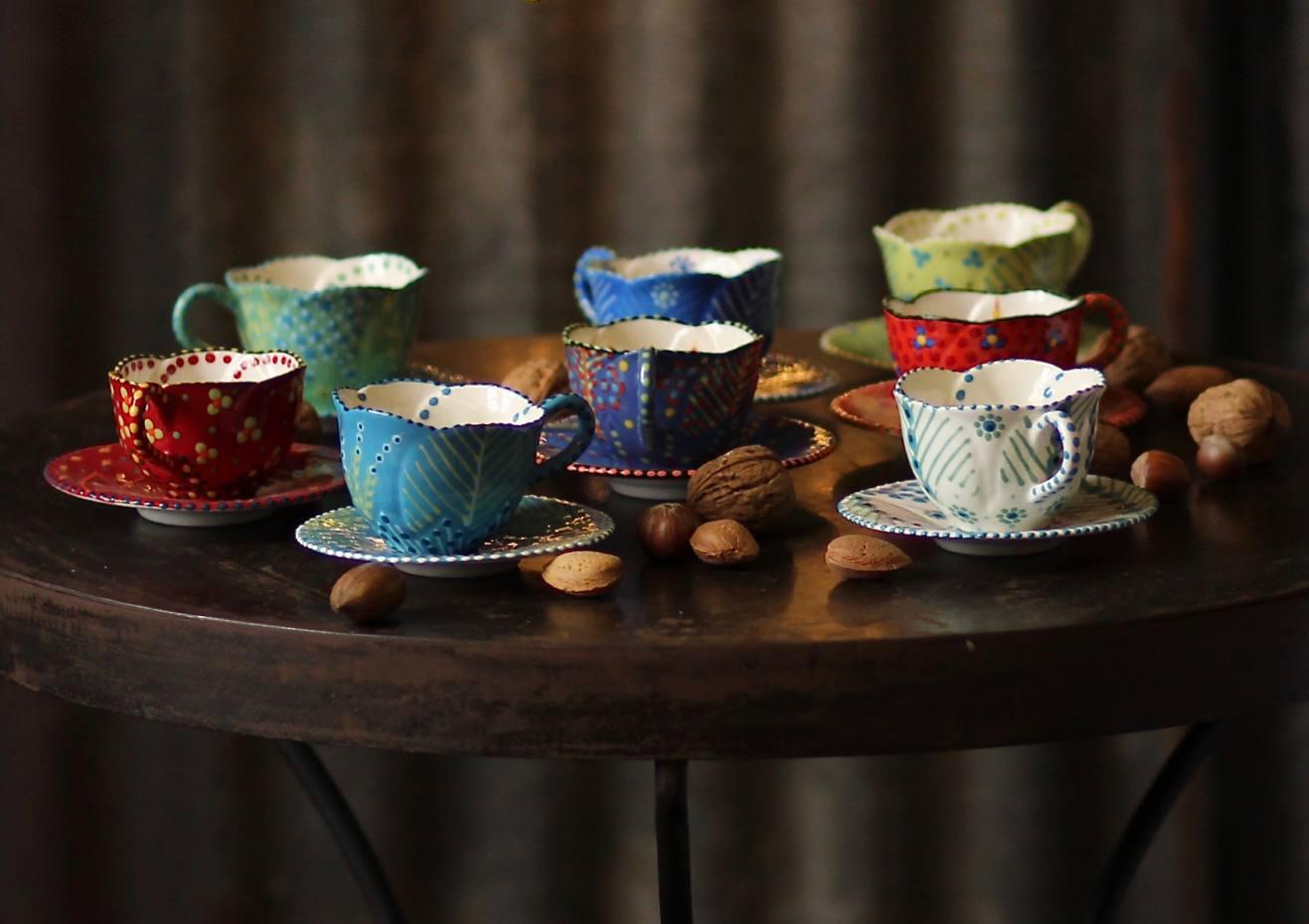 Espresso cups, £32 each