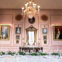 The 18th-century grandeur of the dining room at Hotel Château du Grand-Lucé in the Loire Valley