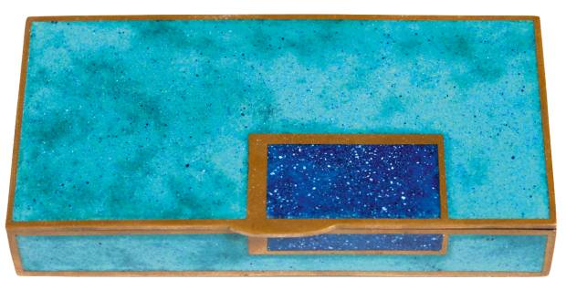 Jean Goulden enamel  and copper box, $80,000, from Kelly Gallery