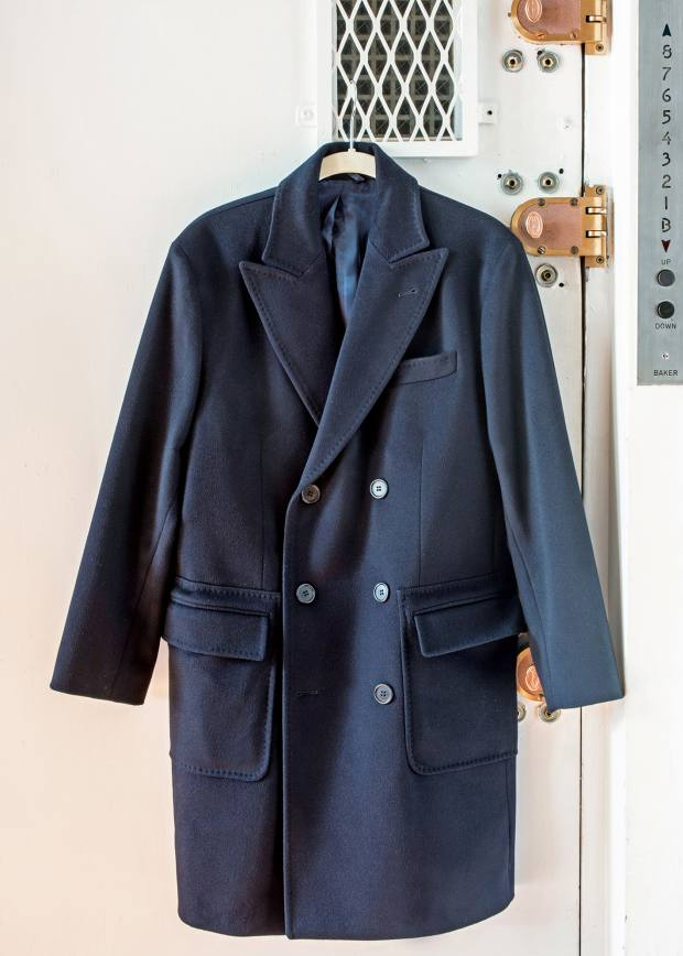 Aspesi cashmere double-breasted coat, about £1,500