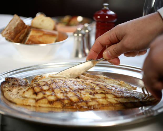 A traditional Dover sole served at J Sheekey