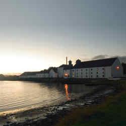 The picturesque Laphroaig distillery on Islay, Scotland.