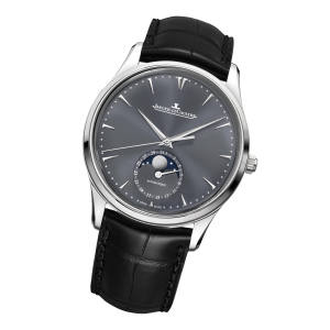 Jaeger LeCoultre white gold Master Ultra Thin Moon on alligator strap, £15,600