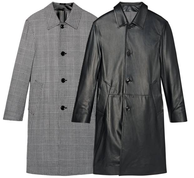 Tom Ford wool-mix and leather coat, £7,150