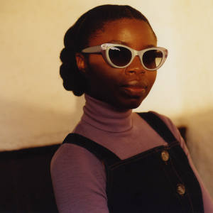 Fashion designer Rita Colson in Black Eyewear Alice sunglasses in Pastel Lilac, £187