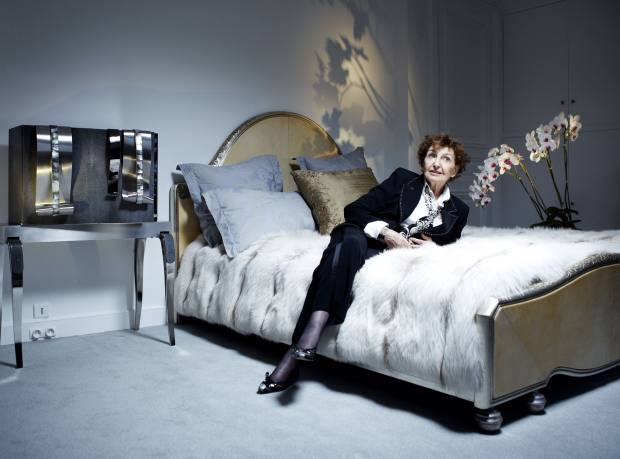 Pergay in a Paris apartment with the stainless-steel, shagreen and mother-of-pearl Caviar cabinet, 2005. Price on request