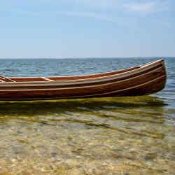 Preszler Woodshop handcrafted canoe, $100,000