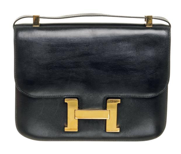 2a8544c451 Vintage Hermès leather Constance 23 bag
