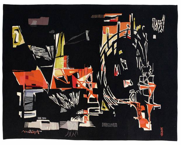 Le Parkhor, 1960, by Mathieu Matégot, sold for €25,000 by Galerie Chevalier